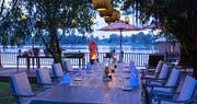 Private bbq on river deck at An Lam Retreats Saigon River