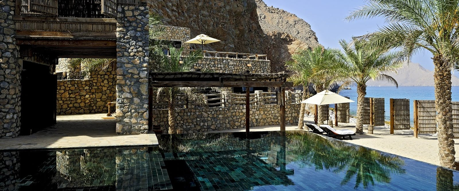 Pool Terrace at Private Retreats and Reserve at Six Senses Zighy Bay