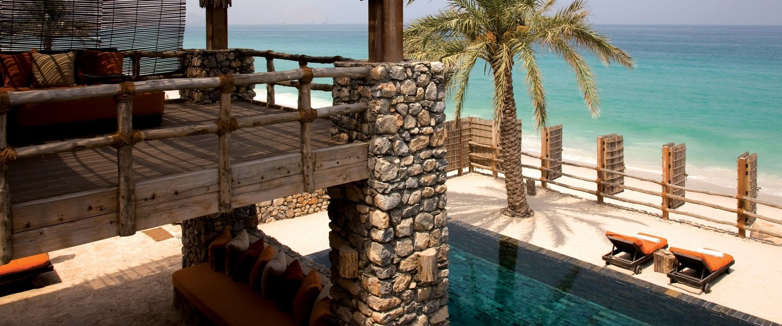 Bedroom Balcony at Private Retreats and Reserve at Six Senses Zighy Bay