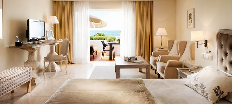 A Deluxe Junior Suite at Puente Romano Beach Resort and Spa, Marbella