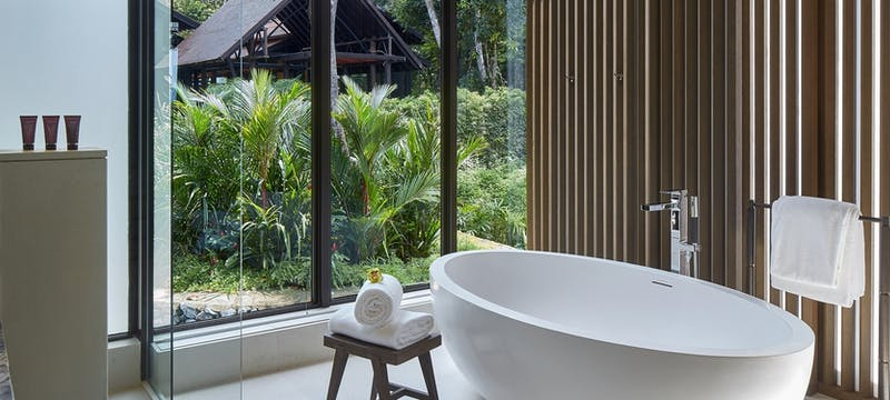 Rainforest Deluxe Bathroom at the Ritz-Carlton Langkawi