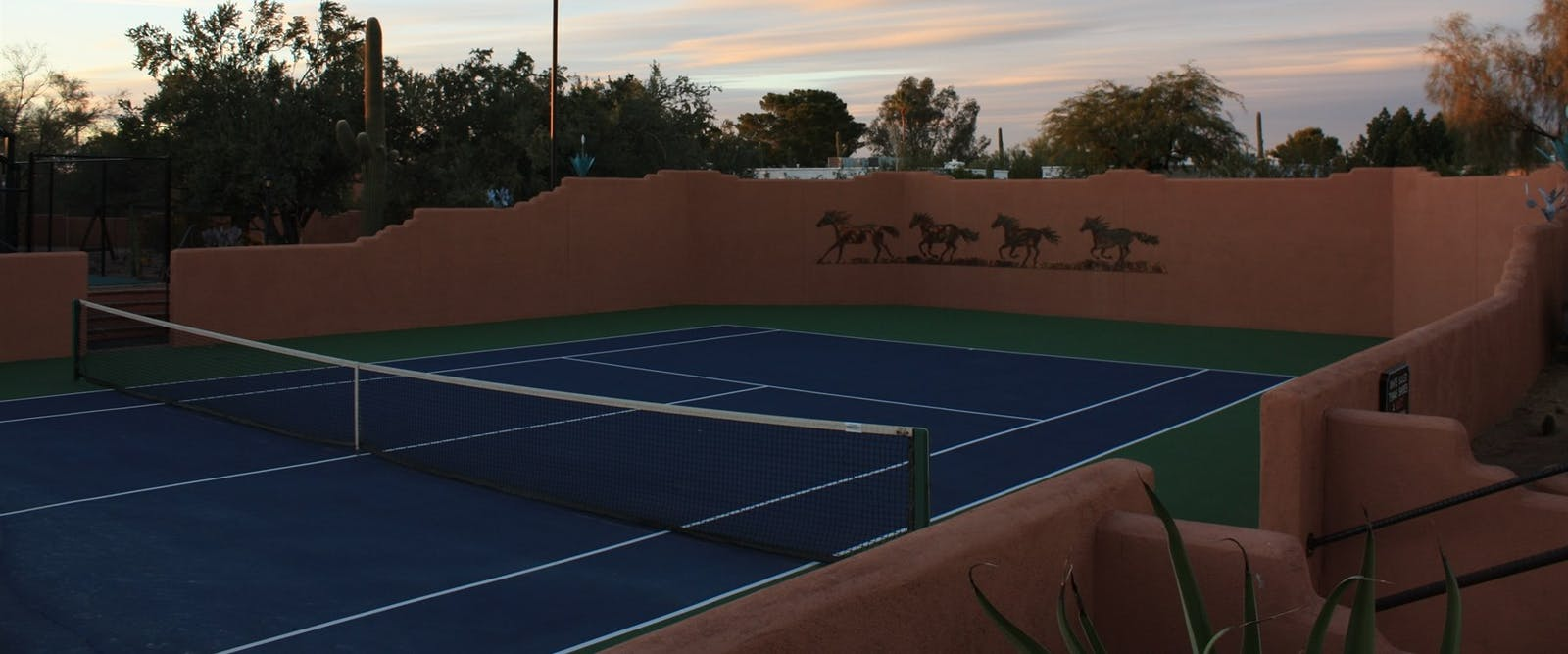 Tennis Court At White Stallion Ranch, Arizona