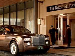 Entrance to The Ritz-Carlton Tokyo, Japan