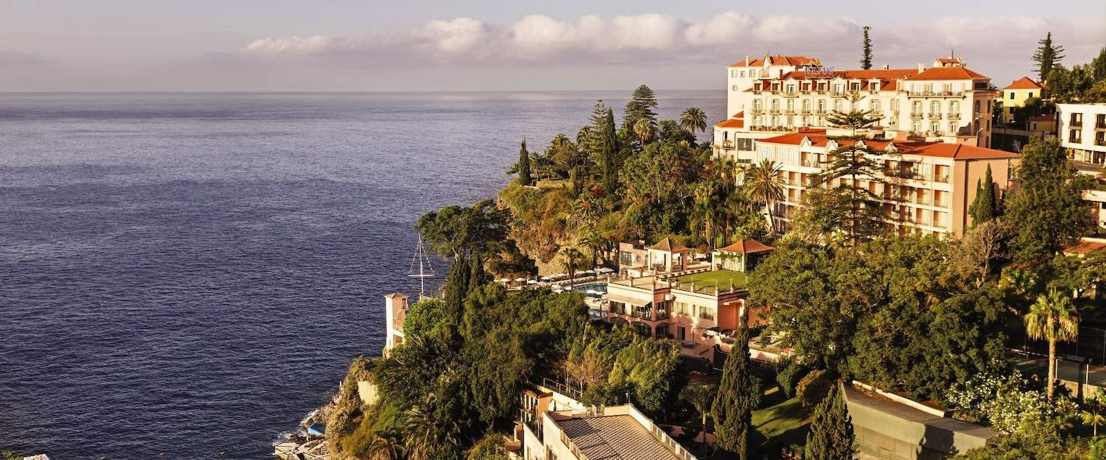 Exterior of Reid's Palace, A Belmond Hotel, Madeira, Portugal