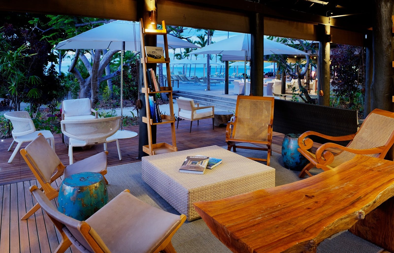 Reception Area at VOMO Island Resort, Fiji
