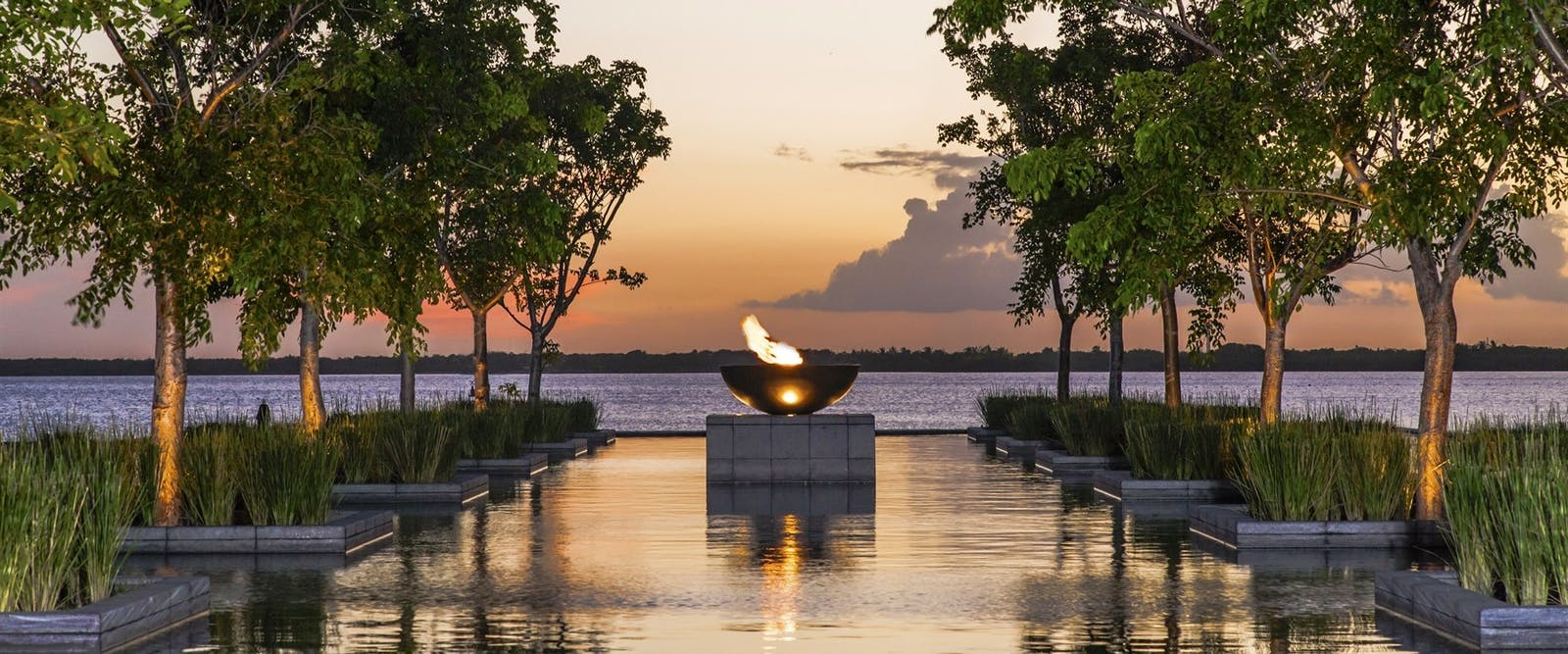 Reflecting pond at NIZUC Resort and Spa, Riviera Maya