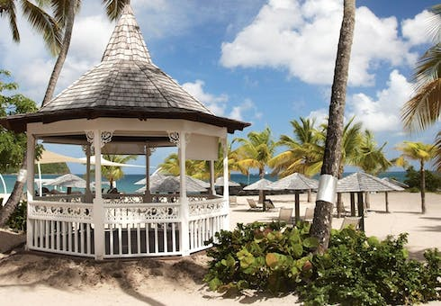 wedding gazebo at rendezvous st lucia
