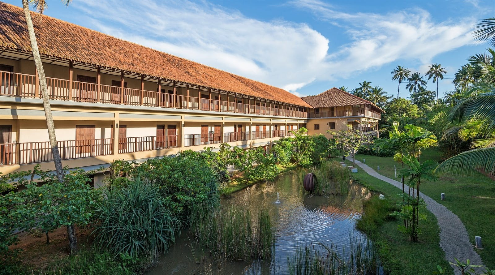 Resort lagoon side, Anantara Kalutara, Sri Lanka