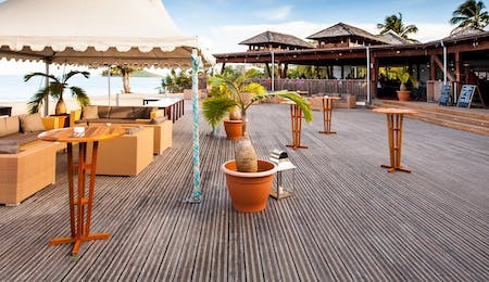 Beach Deck at Langley Resort Fort Royal, Guadeloupe