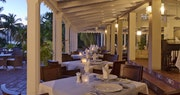 Traditional plantation style restaurant at Curtain Bluff, Antigua