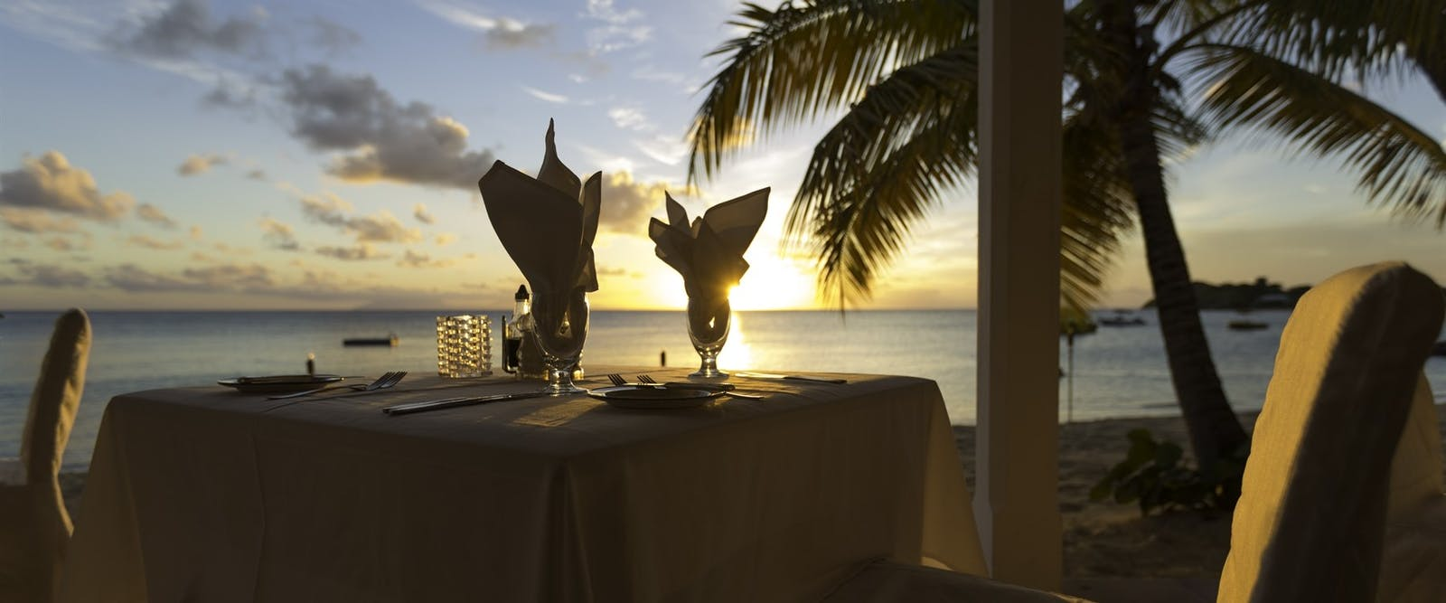 Restaurant on the Water's Edge at Curtain Bluff, Antigua