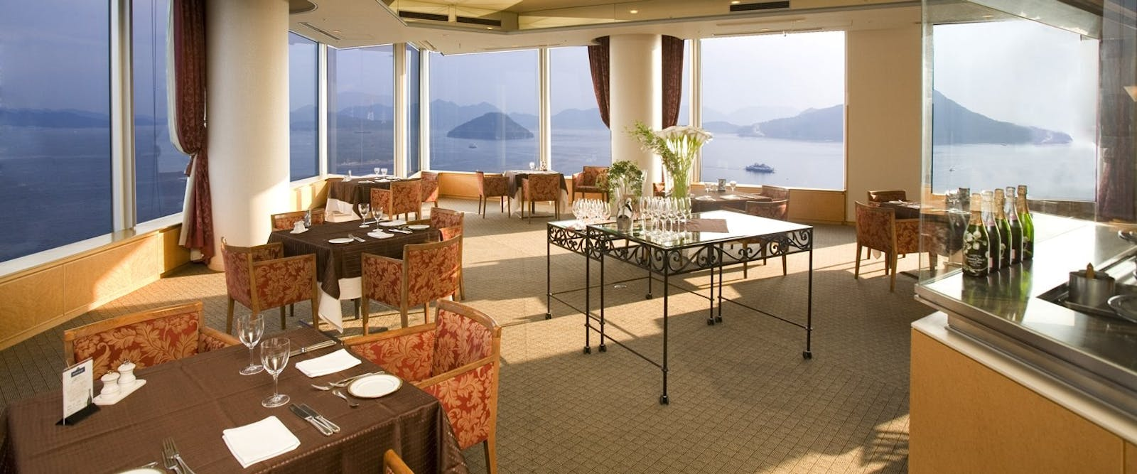 Restaurant at Grand Prince Hotel Hiroshima, Japan