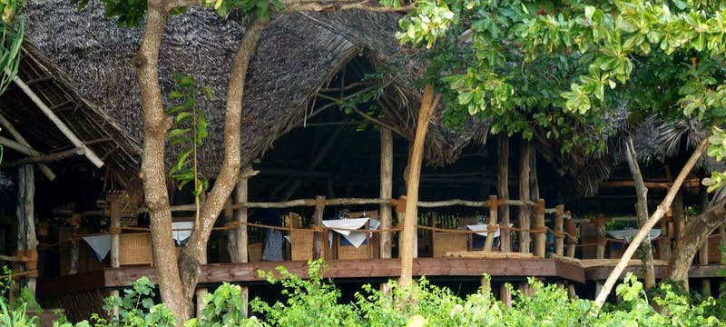Restaurant exterior at Fundu Lagoon