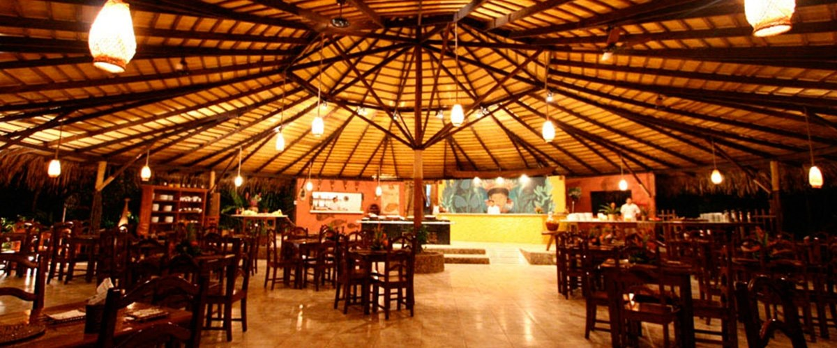 Restaurant at Amazon Eco Park Jungle Lodge, Brazil