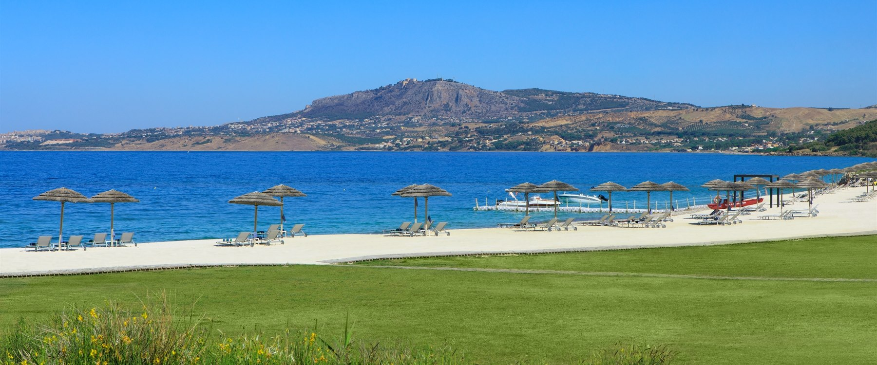 The beach at Verdura Resort, Sicily
