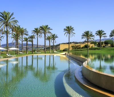 Swimming pool at Verdura Resort, Sicily
