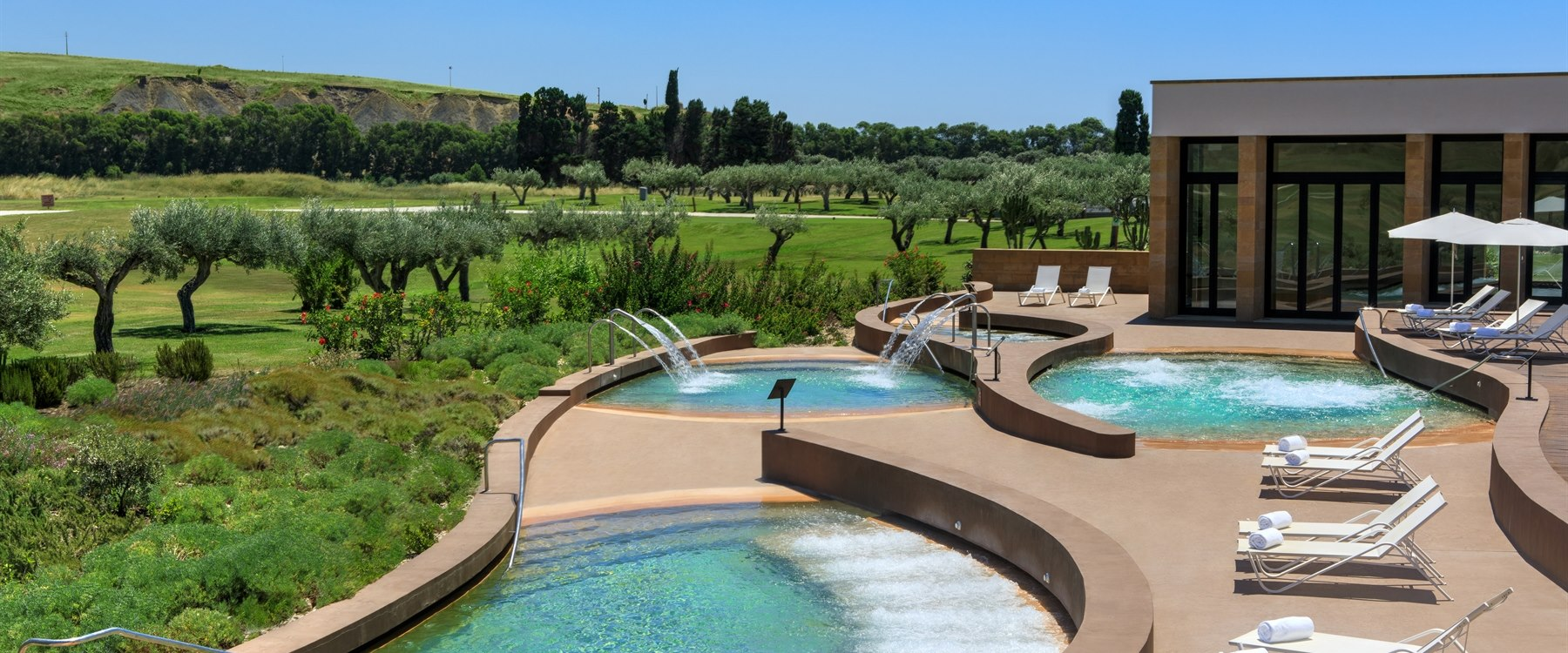 Spa thalassotherapy pool at Verdura Resort, Sicily