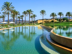 Infinity Swimming Pool at Verdura Resort, Sicily, Italy