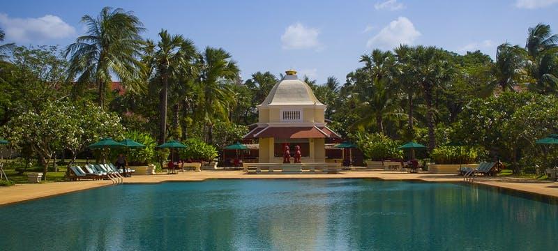 Swimming pool at Raffles Grand Hotel d'Angkor, Cambodia