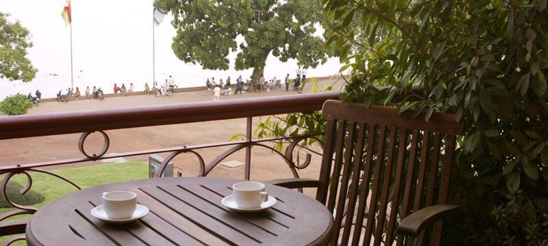 River view from balcony at Amanjaya Pancam Hotel, Cambodia