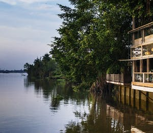 River side view at An Lam Retreats Saigon River