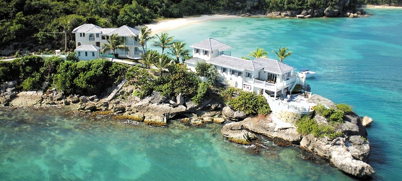 Stunning aerial view of The Cove Suites At Blue Waters, Antigua