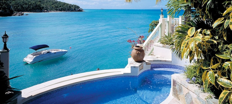 Private plunge pool at Rock Cottage at Blue Waters, Antigua