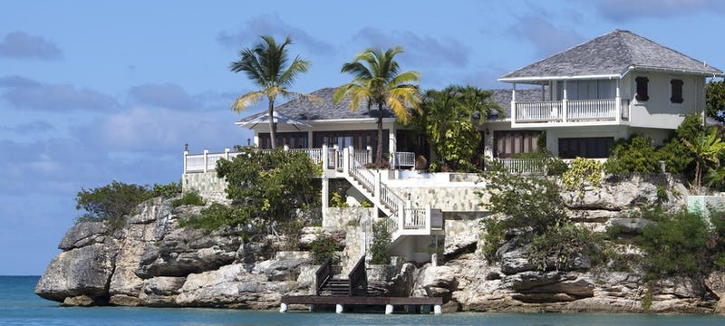 Exterior view of Rock Cottage at Blue Waters, Antigua