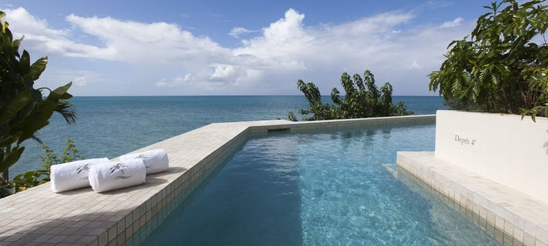 Spa infinity pool at Blue Waters, Antigua
