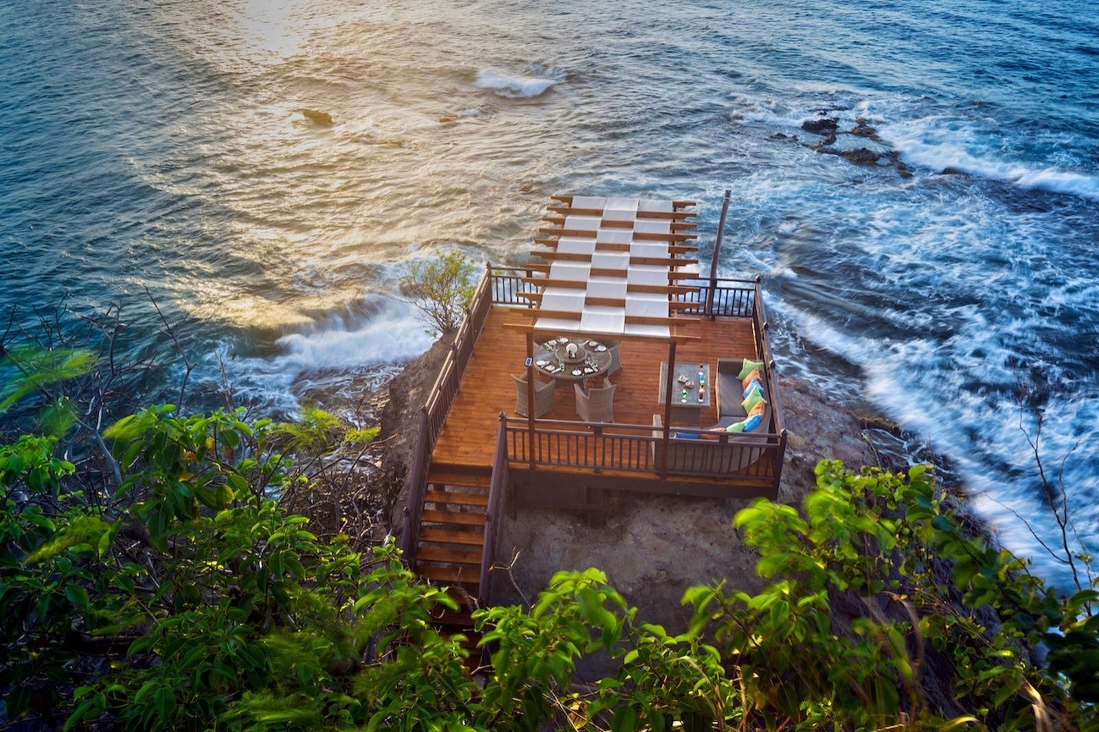 Rock Maison at sunset, Cap Maison, St Lucia