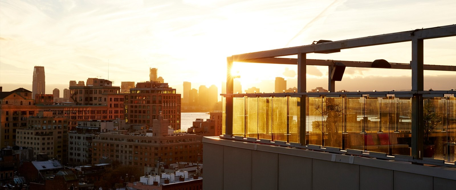 Rooftop Sunset Views At Gansevoort Meatpacking NYC