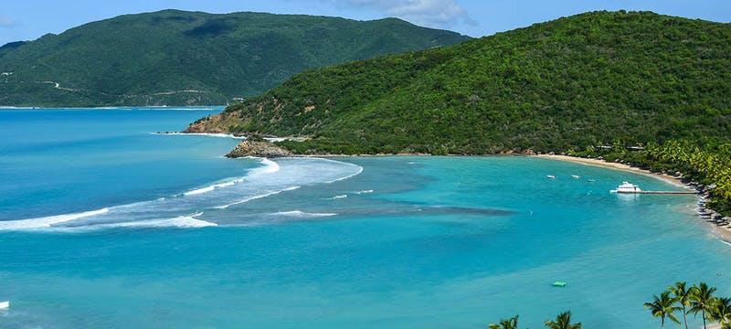 Shoreline at Rosewood Little Dix Bay, British Virgin Islands