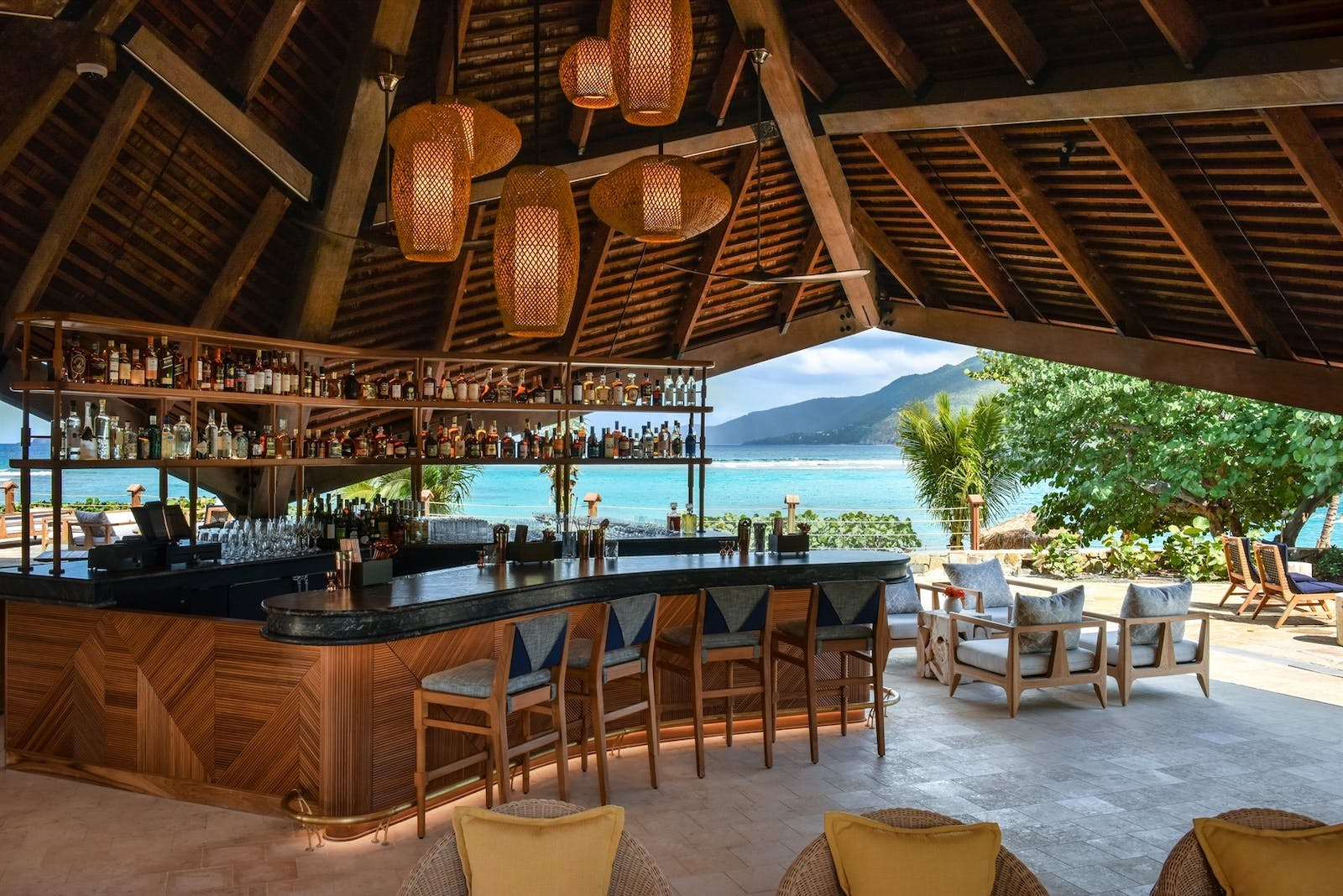 Bar at Rosewood Little Dix Bay
