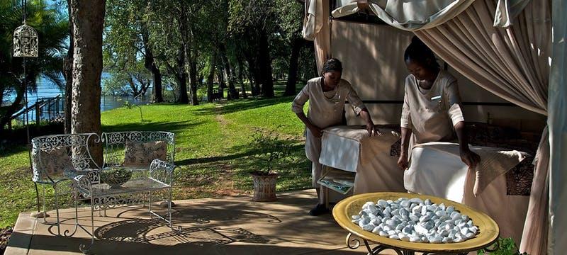 Spa area at The Royal Livingstone by Anantara