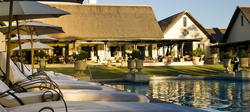 Pool area at The Royal Livingstone by Anantara