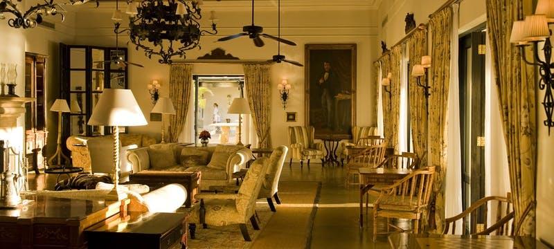 Lounge area at The Royal Livingstone by Anantara