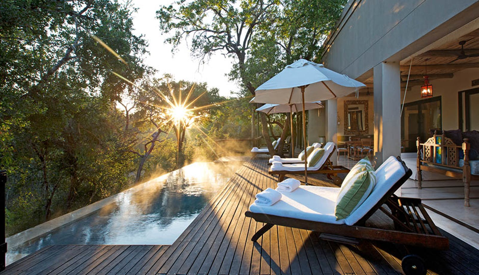 Deck at  Royal Malewane Kruger National Park
