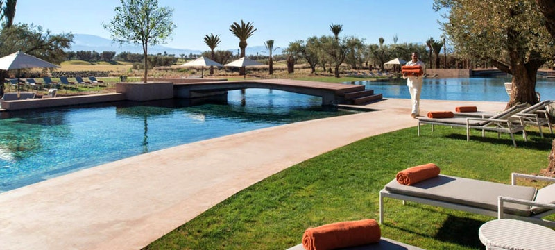 Main pool and hotel view at Royal Palm, Marrakech