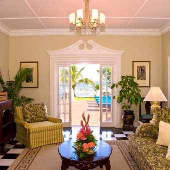 Lounge area at Royal Villas at Half Moon