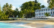 Beach front view at The Fairmont Royal Pavilion, Barbados