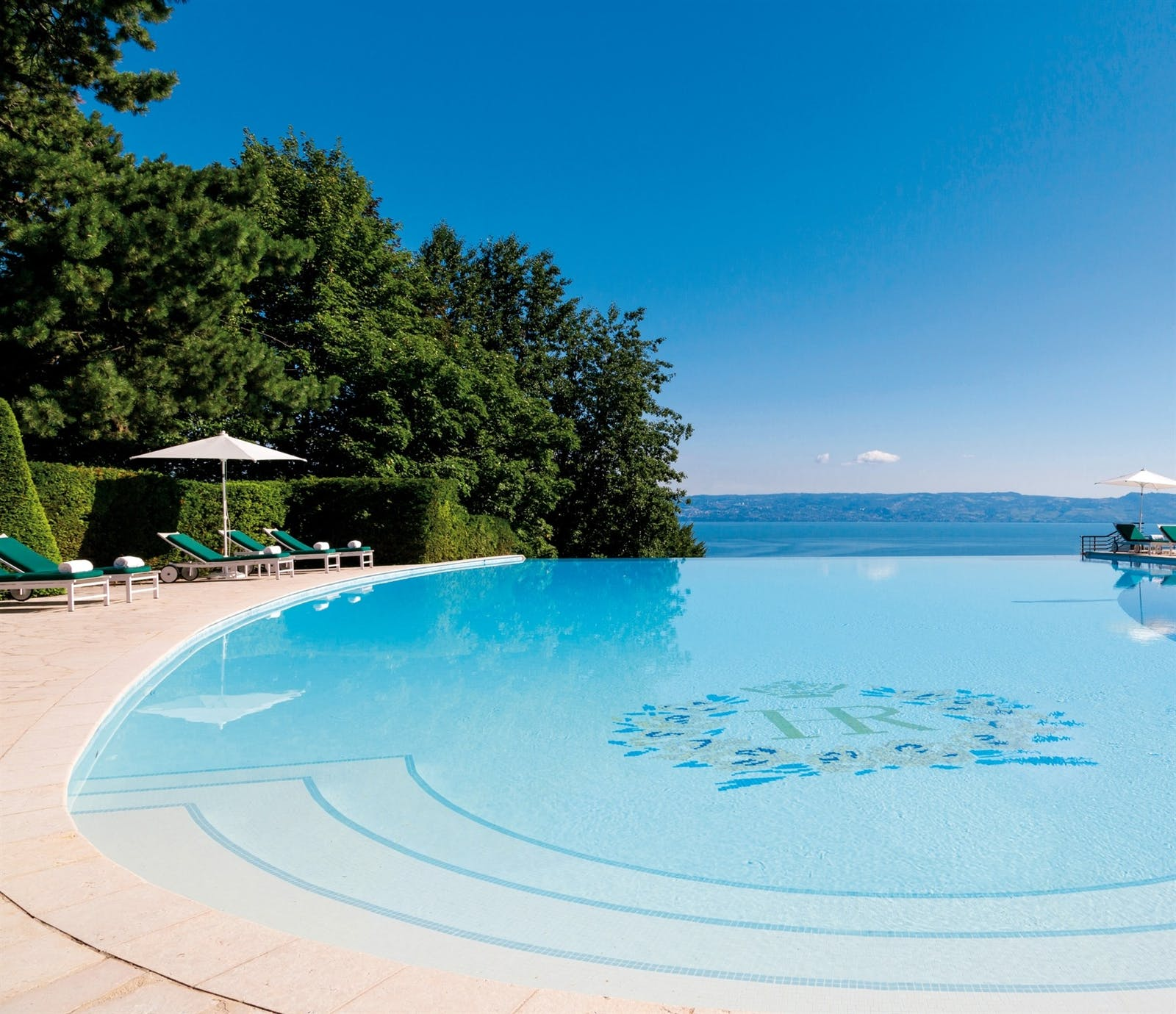 Outdoor Swimming Pool, Hotel Royal, Evian Resort, Lake Geneva, France