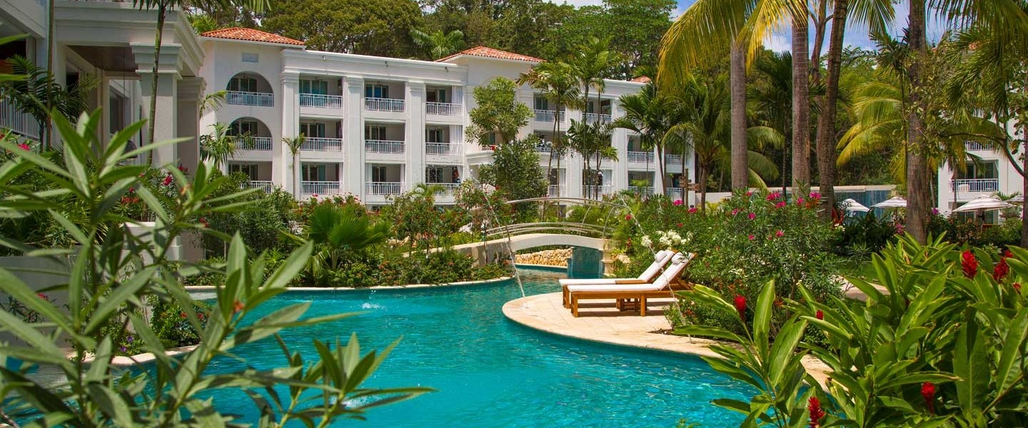 Exterior and Pool View of Sandals Barbados