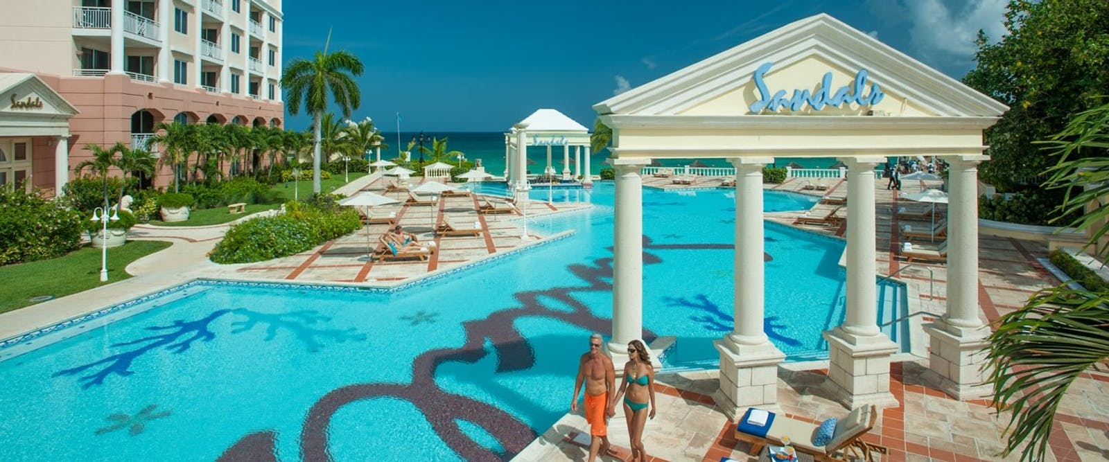 Pool at Sandals Royal Bahamian, Bahamas, Caribbean