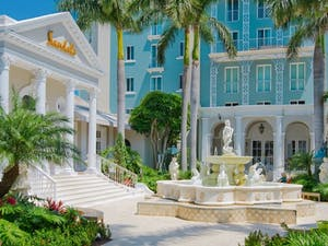 Entrance to Sandals Royal Bahamian, Bahamas