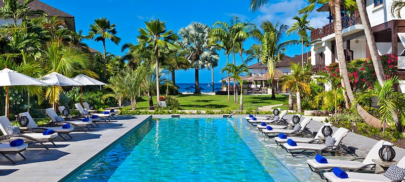 Pool area at The Sand Piper, Barbados