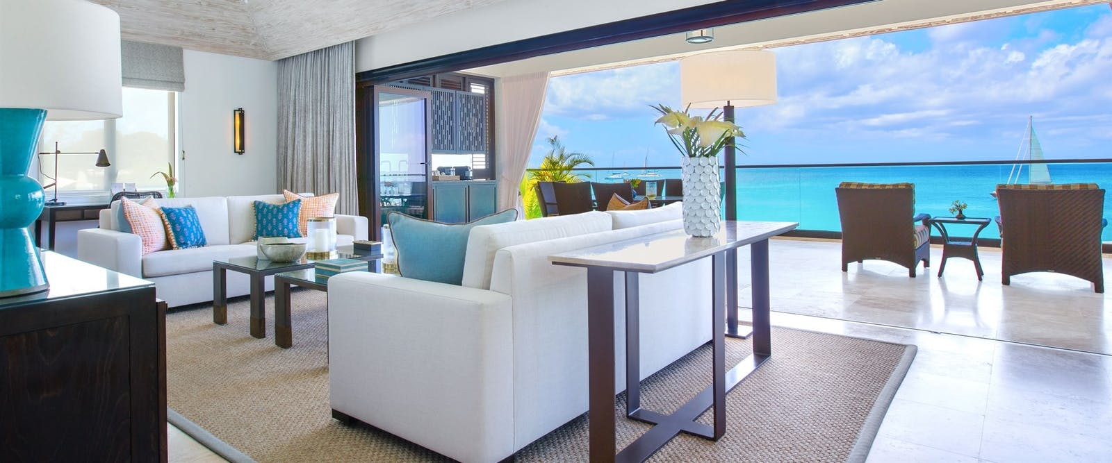 Curlew Tree Top Suite Living Room at The Sandpiper, Barbados