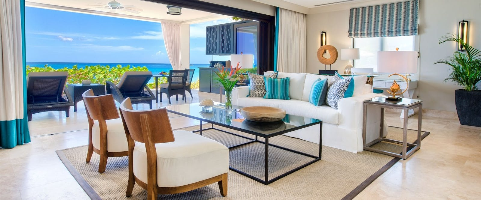 Driftwood Beach House Suite Living Room at The Sandpiper, Barbados