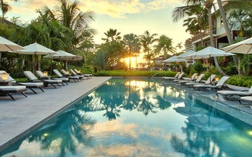 Lap Pool at Sunset at The Sandpiper, Barbados