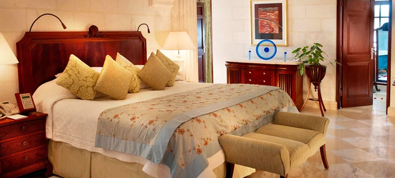 Luxury bedroom at The Villa Sandy Lane, Barbados