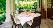 Outside dining at The Villa Sandy Lane, Barbados
